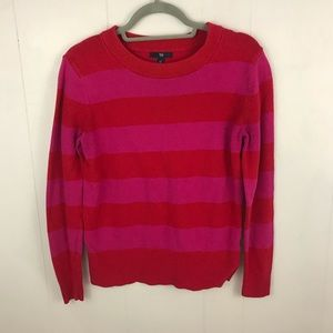 GAP Pink & Red Bold Striped Sweater Size M